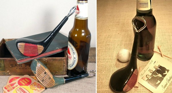 Vintage Golf Club Bottle Opener