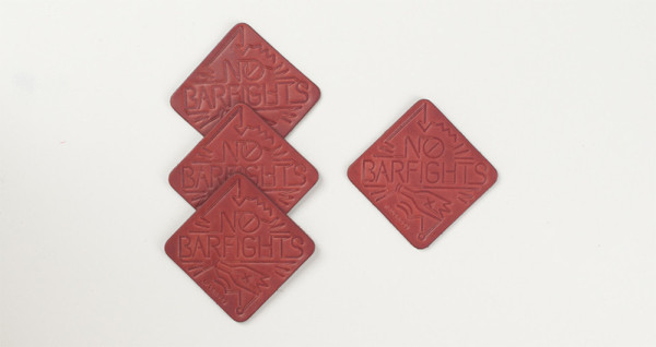 No Bar Fights Bar Coasters