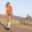 Girl on Onewheel