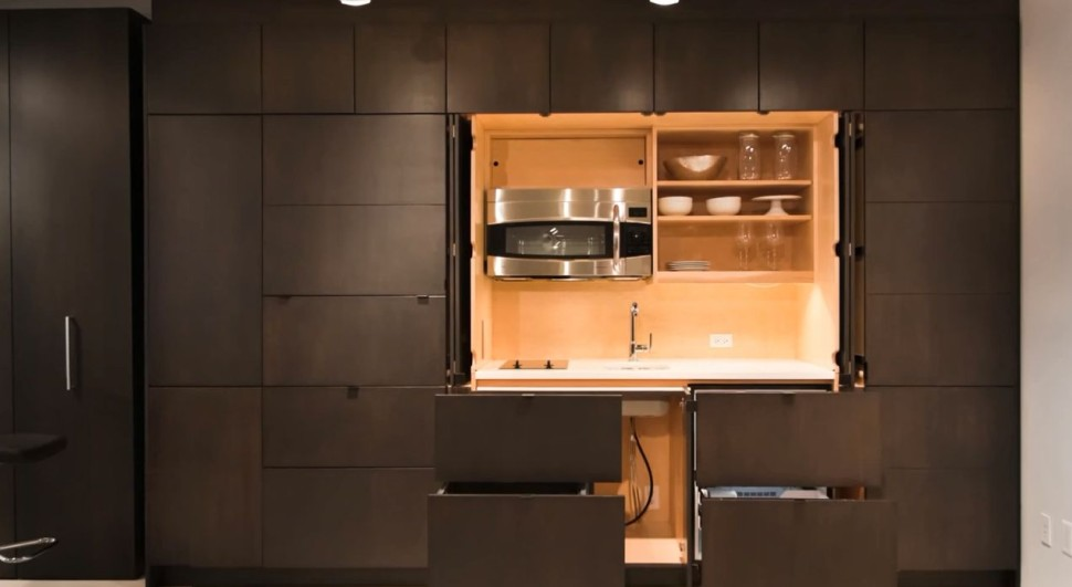 Hide Your Dirty Drawers And Other Kitchen Accessories Behind These Cabinets