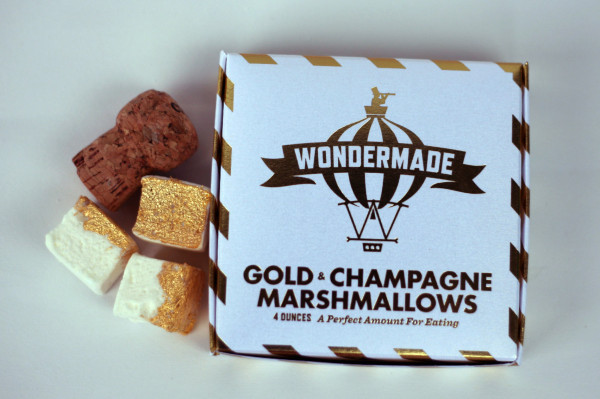 gold champagne marshmallows by wondermade