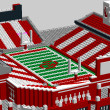 Oklahoma Sooner's Gaylord Family Memorial Stadium, LEGO model